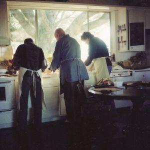Julia, Craig, and Jim Cooking